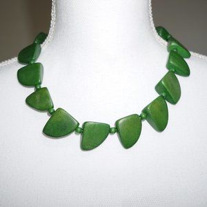 Wooden Necklace in Jade Green